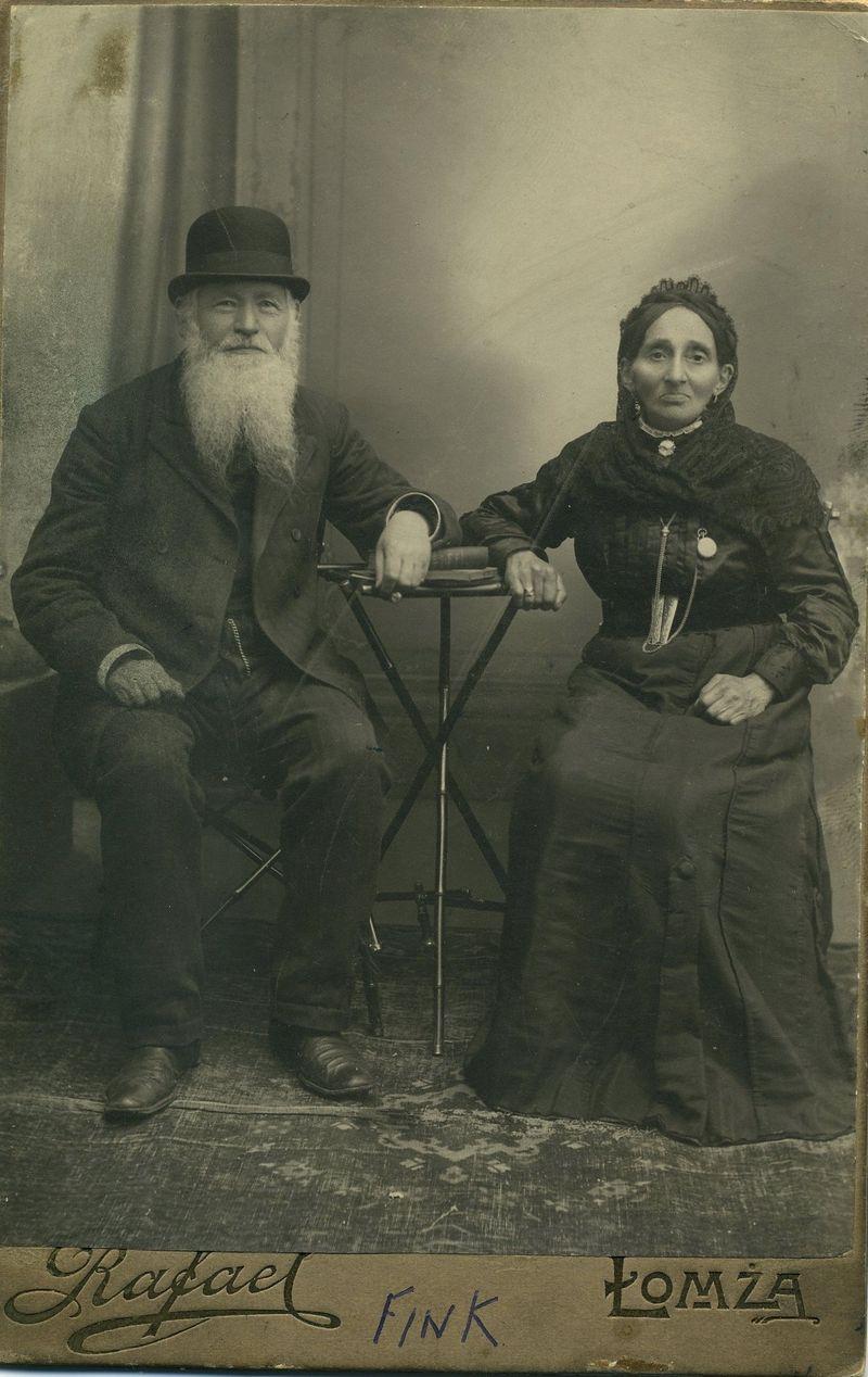 Lewi Izaak Finkielzstejn and Szejna Rachla Snipinska