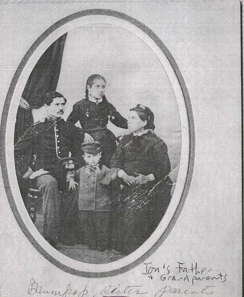 Baum Family 2-- Gershon, Ida, Frances Kurlander, Jacob ca. 1880